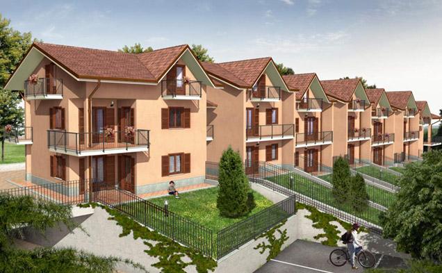Costruzione edificio plurifamiliare per n° 14 alloggi e n° 14 box auto a n° 2 piani fuori terra